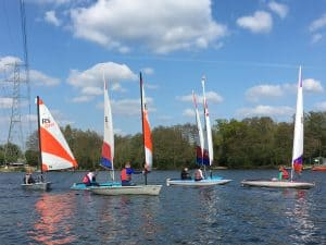 London Youth Sailing League Event 28th April 2019